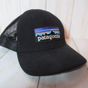 Classic Black Patagonia mesh snapback hat